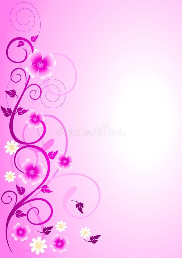 Het roze Ornament van Bloemen stock illustratie
