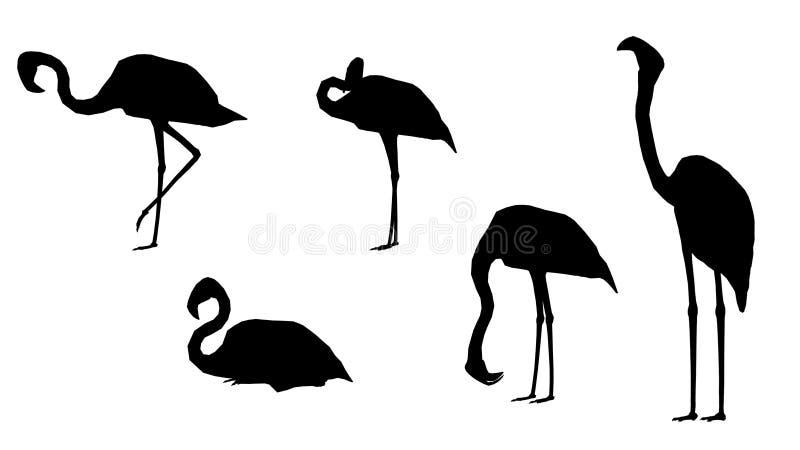 Het roze pak van het Flamingosilhouet royalty-vrije illustratie
