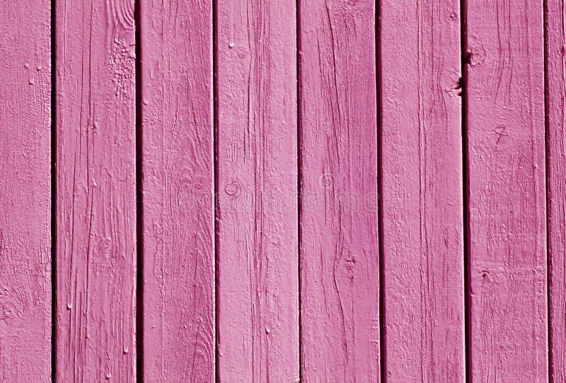 Het roze patroon van de kleuren houten omheining royalty-vrije stock fotografie