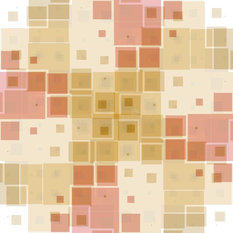 Het roze Patroon van de Textuur van Blokken stock illustratie