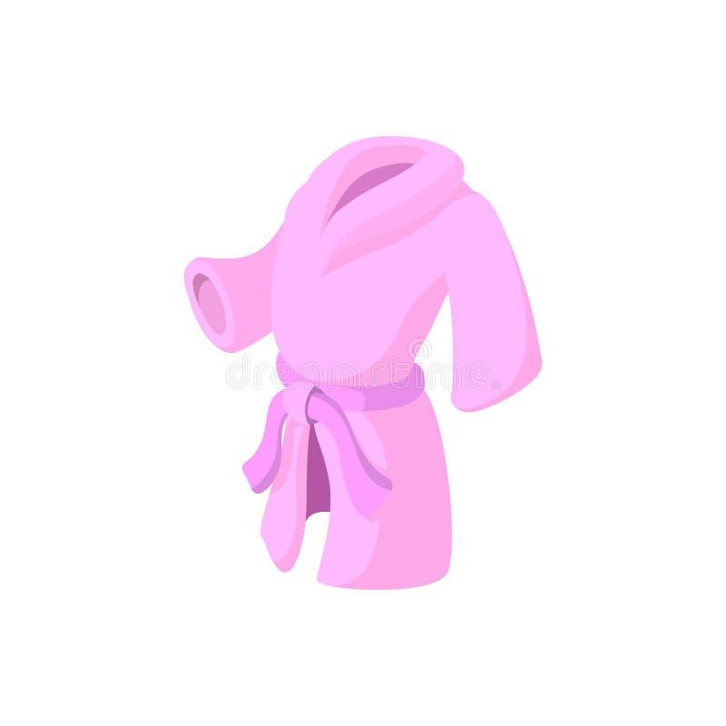 Het roze pictogram van het badjasbeeldverhaal royalty-vrije illustratie