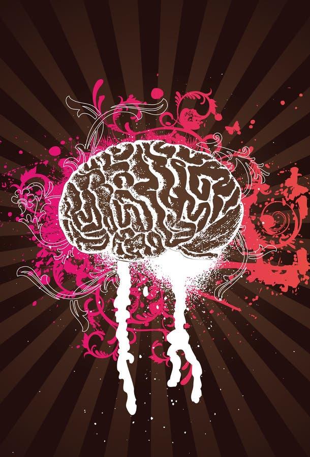 Het roze ploetert Hersenen royalty-vrije illustratie