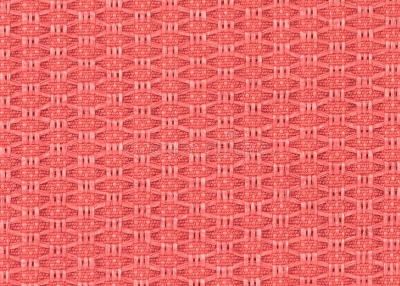 Het roze regelmatige patroon van de stoffentextuur royalty-vrije stock foto's