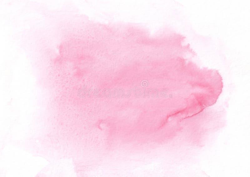 Het roze runned uit waterverfvlek Abstracte achtergrond voor om het even welk grafisch werk stock illustratie