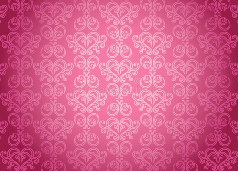 Het roze sierpatroon van de luxe stock illustratie