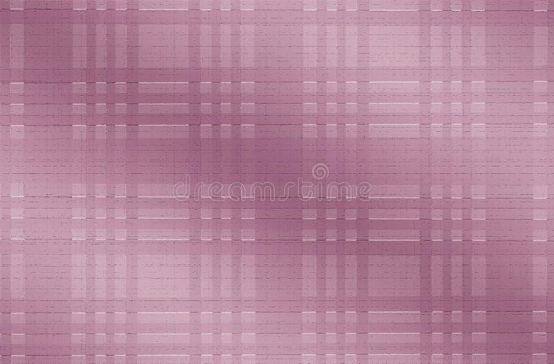 Het roze stemde Abstracte Geruite Effect Achtergrond stock foto