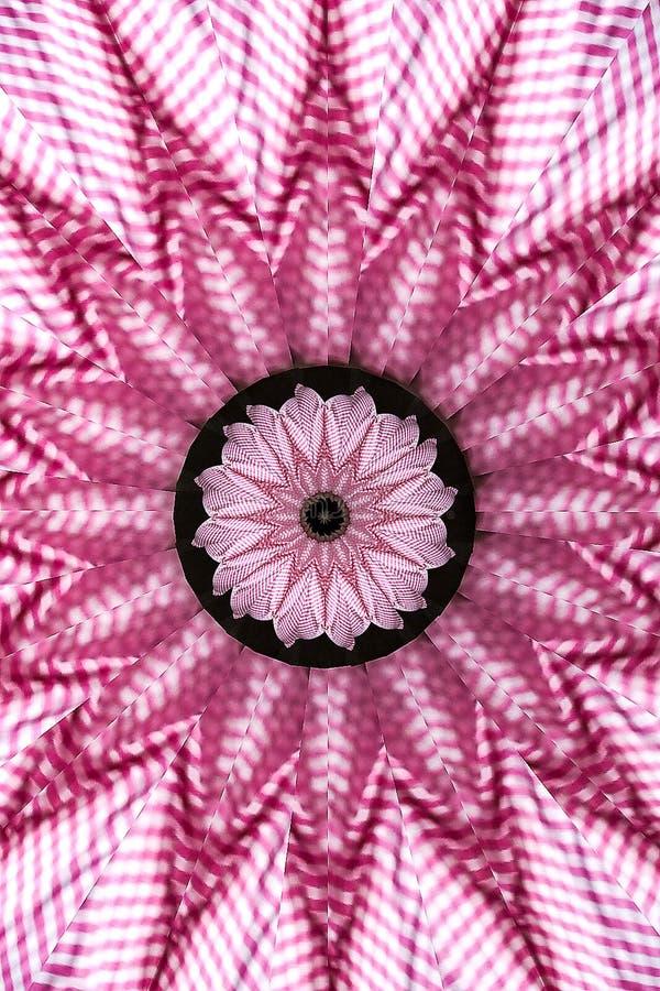 Het roze Tapijtwerk van de Gingangcaleidoscoop royalty-vrije illustratie