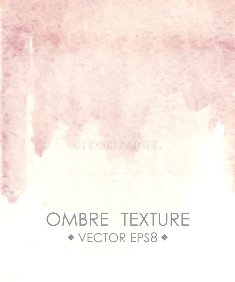 Het roze van de Ombrewaterverf Hand getrokken ombre textuur royalty-vrije illustratie