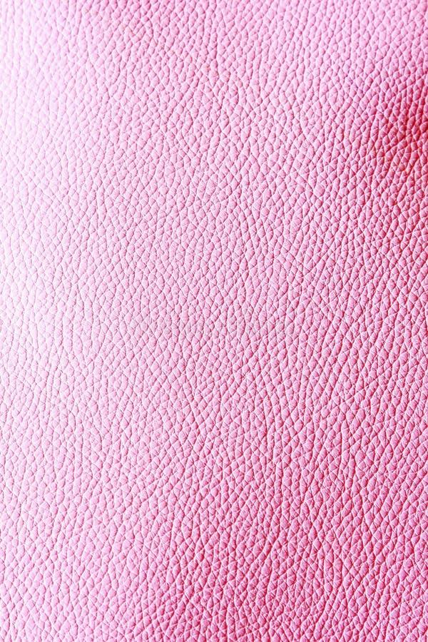 Het roze van het leer stock foto