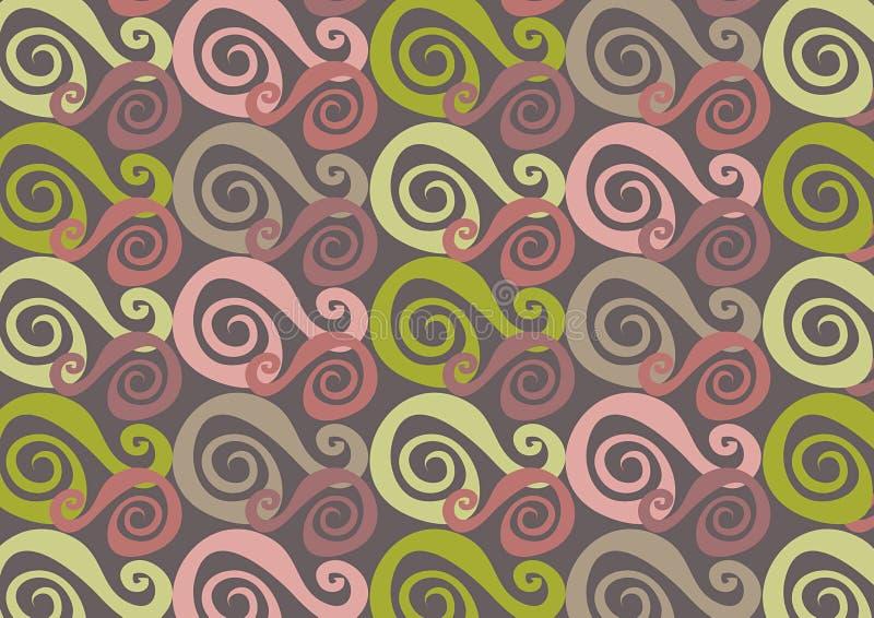 Het roze van Whirly en groen royalty-vrije illustratie