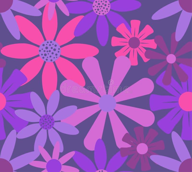 Het rozerode patroon van rozenbloemen royalty-vrije illustratie