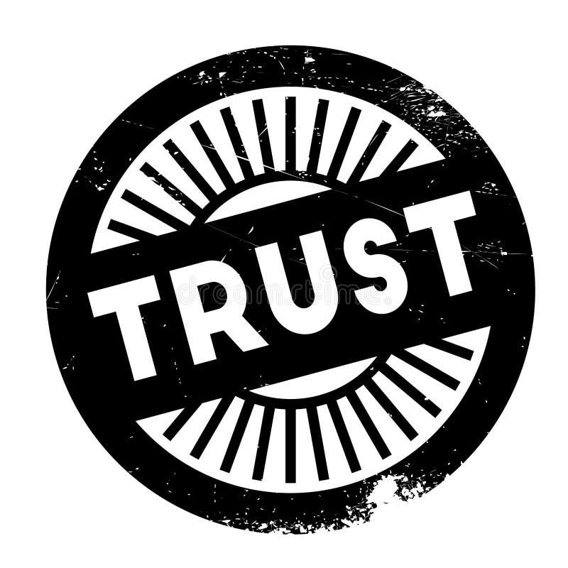 Het rubber van de vertrouwenszegel grunge vector illustratie