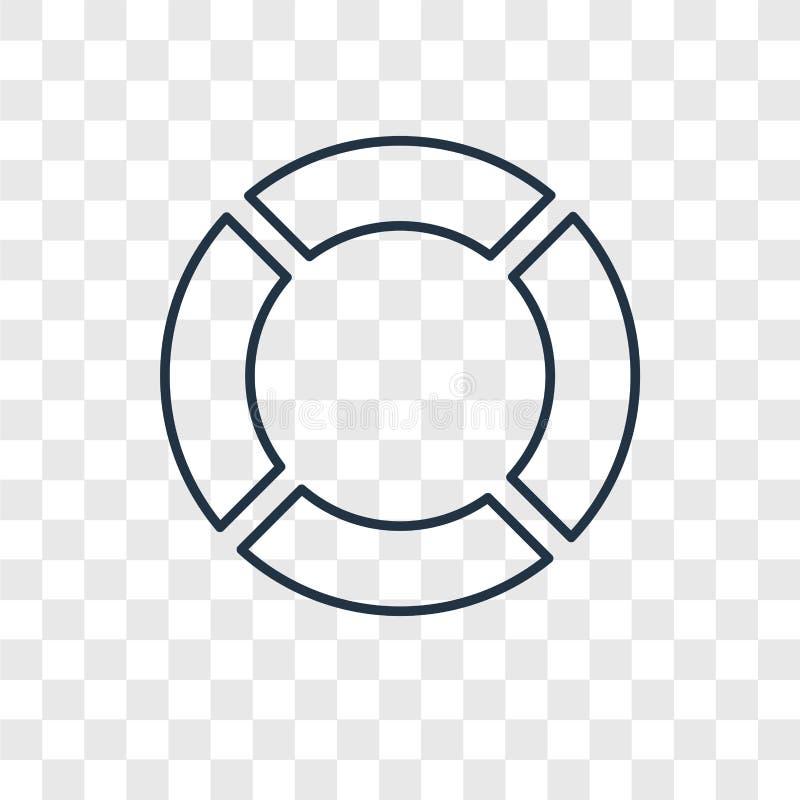 Het rubber vector lineaire die pictogram van het ringsconcept op transparante B wordt geïsoleerd royalty-vrije illustratie