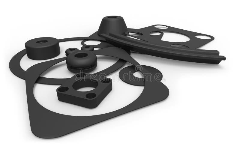Het rubber verzegelen vector illustratie