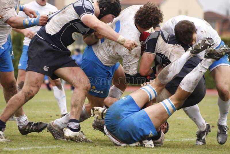 Het Rugby van Naties ERB Zes - Italië versus Schotland royalty-vrije stock foto