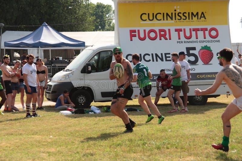 Het Rugbyfestival 2017 van Milaan royalty-vrije stock afbeeldingen