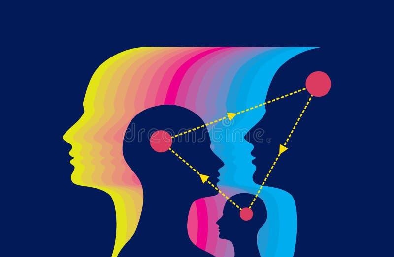 Het ruilen van ideeconcept vector illustratie