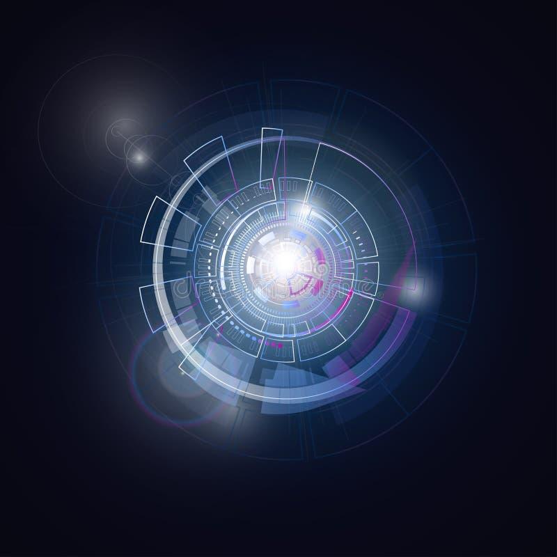 Het ruimte ronde systeem van de heelalplaneet royalty-vrije stock afbeelding