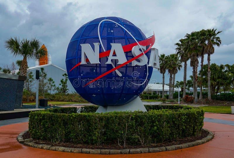 Het ruimtecentrum van Kennedy stock afbeeldingen