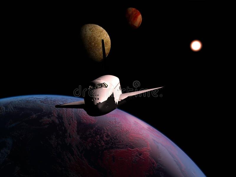 Het ruimteschip royalty-vrije illustratie