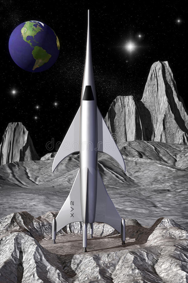 Het ruimteschipwijnoogst van de raket royalty-vrije illustratie
