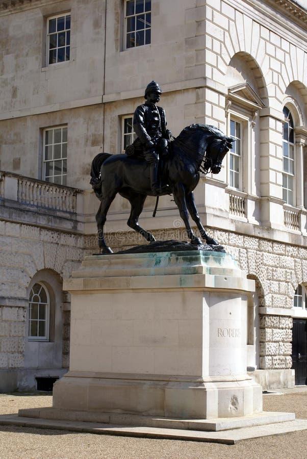 Het ruiterstandbeeld bij Paardwachten paradeert in Whitehall, Londen, Engeland, Europa royalty-vrije stock fotografie