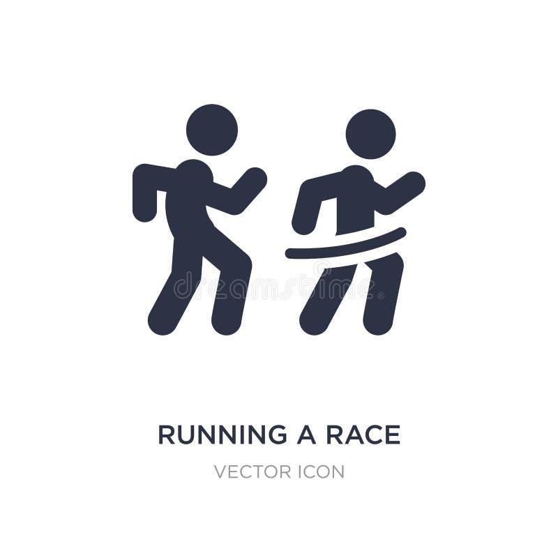 het runnen van een raspictogram op witte achtergrond Eenvoudige elementenillustratie van Sportenconcept royalty-vrije illustratie