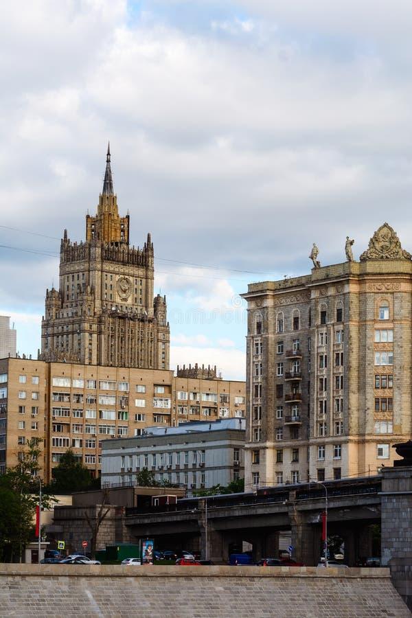 Het Russische Ministerie van Buitenlandse zaken in Moskou stock foto's