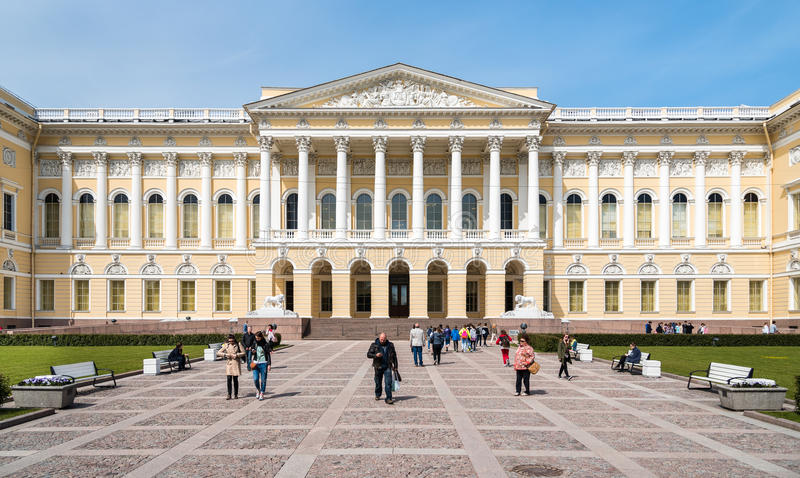 Het Russische Museum van de Staat, Mikhailovsky-Paleis in St. Petersburg royalty-vrije stock foto