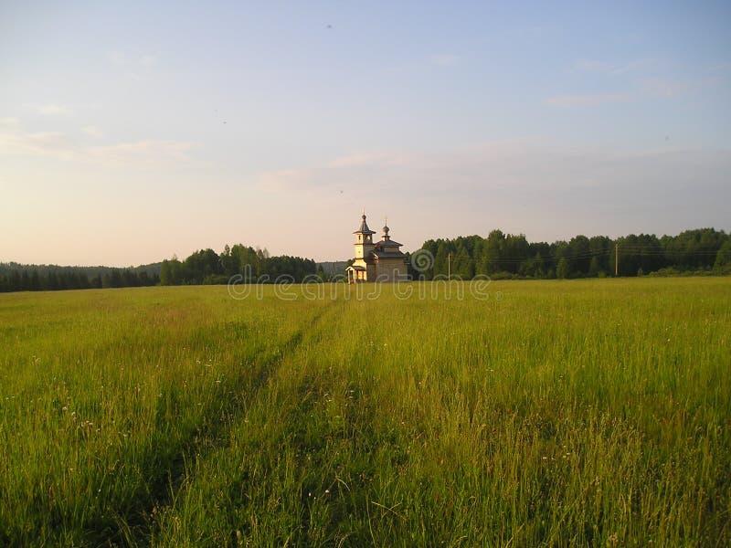 Het Russische Noorden Houten kerken royalty-vrije stock foto's