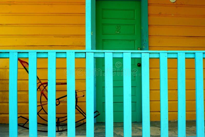 Het rusten in schommelstoel in Caye-Breeuwijzer Belize royalty-vrije stock fotografie