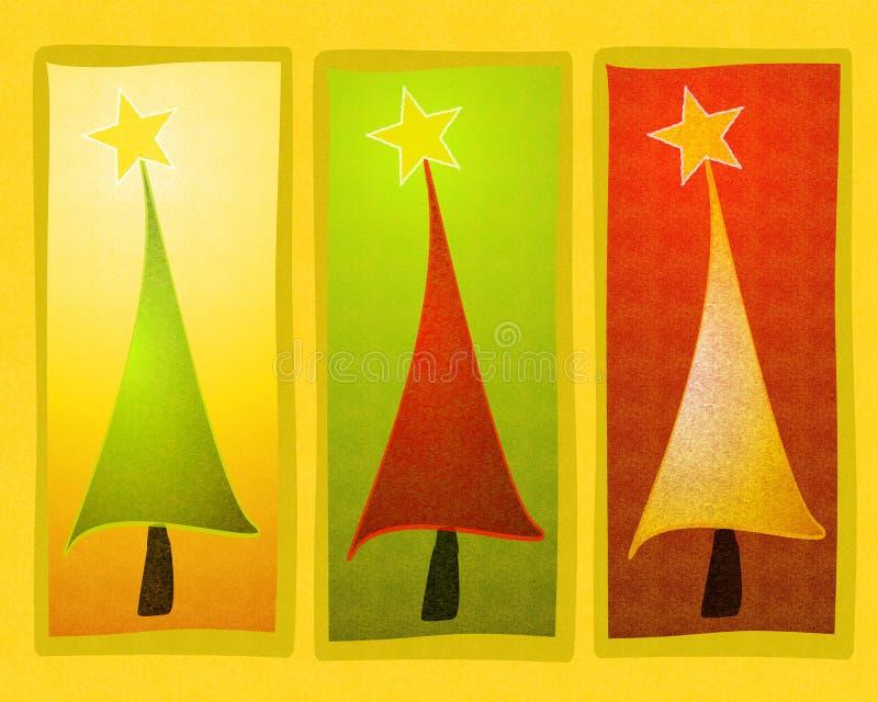 Het rustieke Art. van de Klem van de Kerstboom vector illustratie