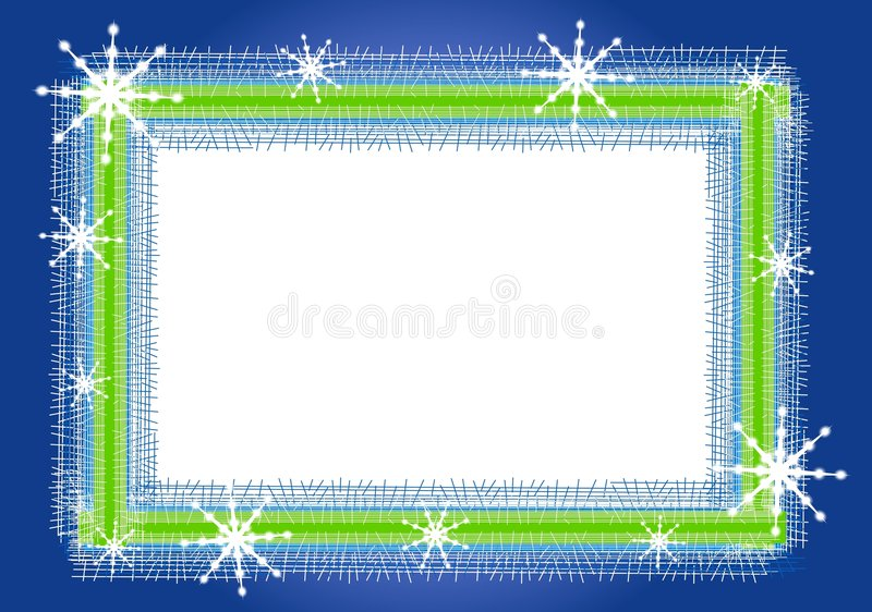 Het rustieke Frame of de Grens van de Sneeuwvlok vector illustratie