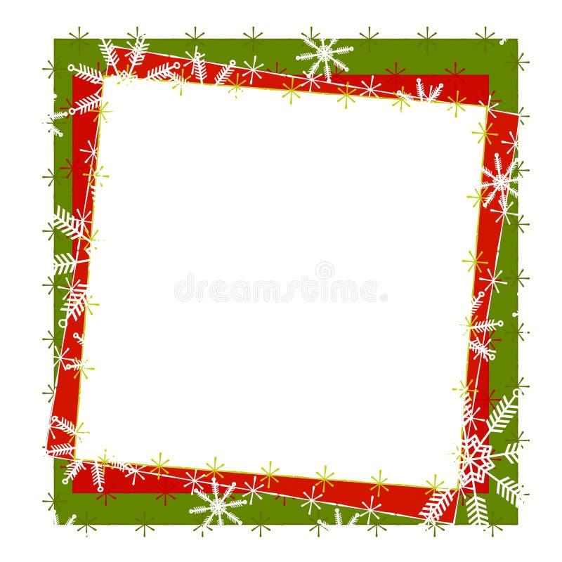 Het rustieke Frame of de Grens van de Sneeuwvlok royalty-vrije illustratie