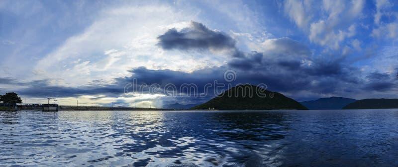 Het rustige reservoir van Tatipudi, Vizag! stock foto's
