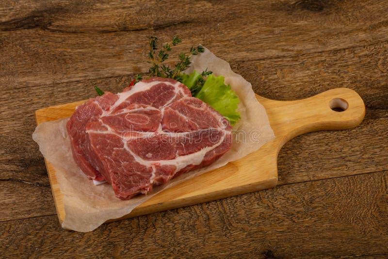 Het ruwe lapje vlees van het Varkensvlees royalty-vrije stock afbeelding