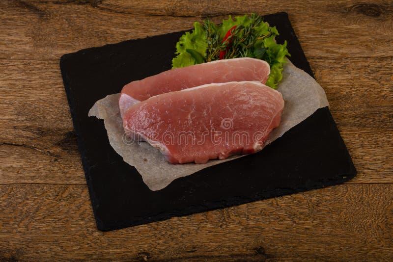 Het ruwe lapje vlees van het Varkensvlees stock fotografie