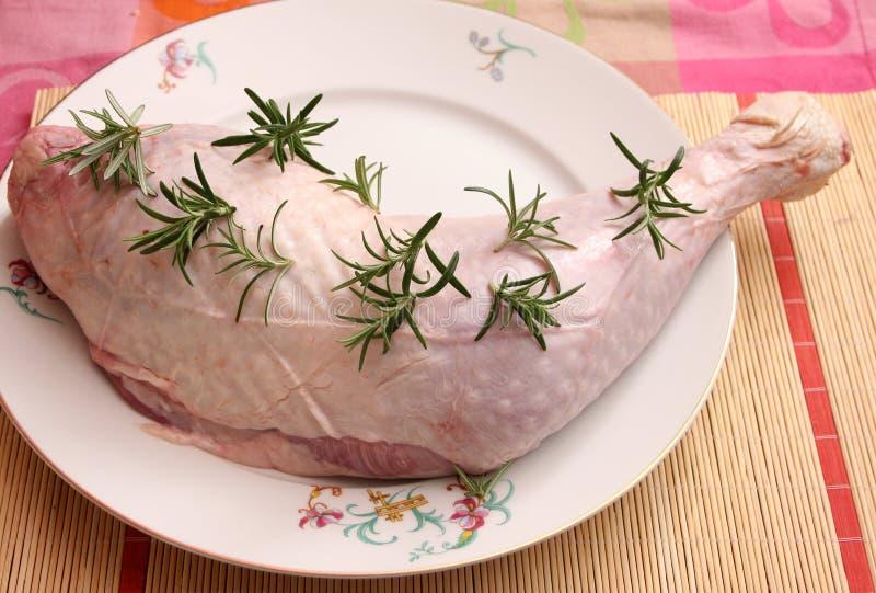 Het ruwe vlees van Turkije royalty-vrije stock fotografie