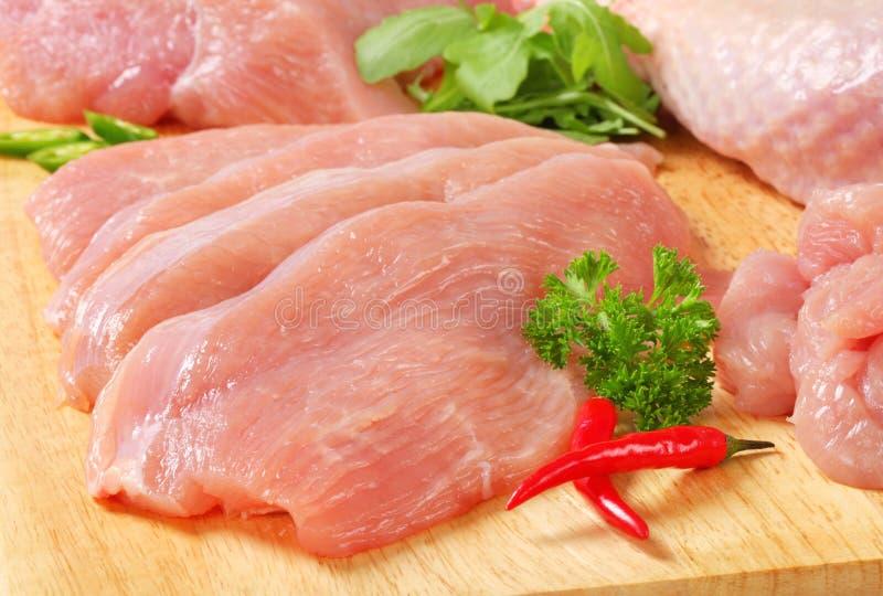 Het ruwe vlees van Turkije stock fotografie