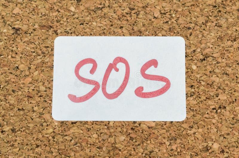 Het S.O.S. van de hulpvraag stock fotografie