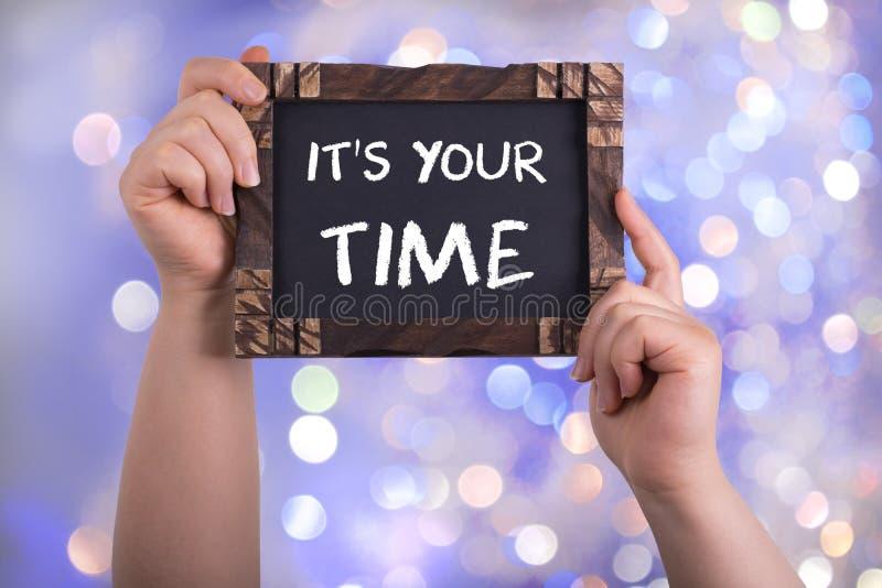 Het ` s uw tijd stock afbeeldingen