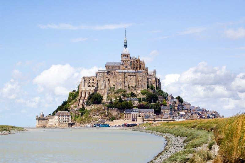 Het Saint Michel van le Mont stock foto's