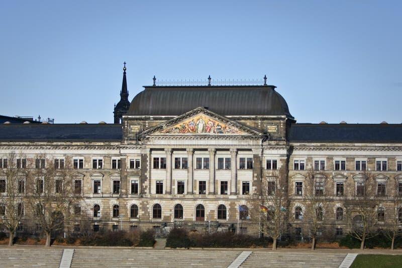 Het Saksische Ministerie van de Staat van Financiën in Dresden royalty-vrije stock foto's