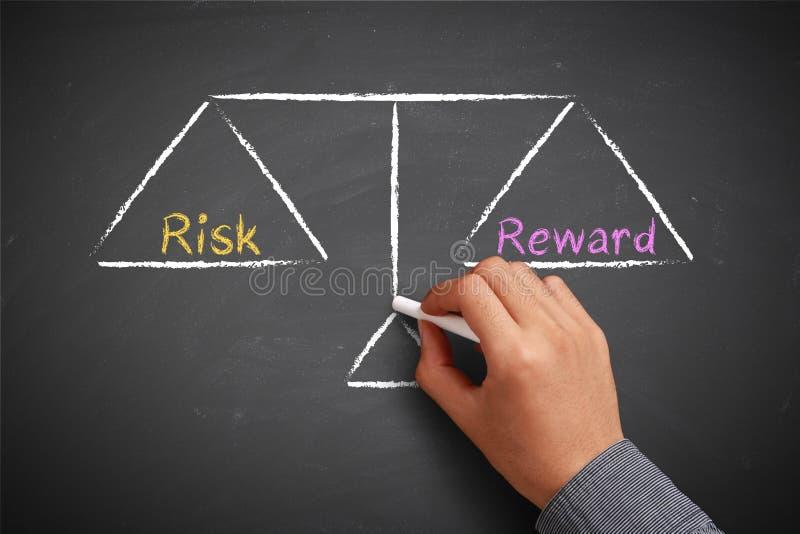 Het saldo van het risico en van de beloning stock fotografie