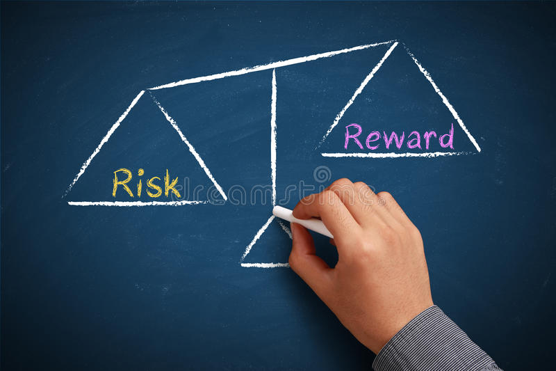 Het saldo van het risico en van de beloning royalty-vrije stock foto