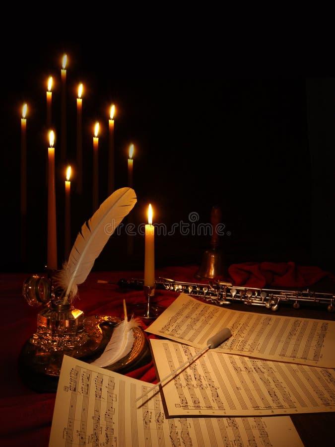Het samenstellen van muziek royalty-vrije stock afbeelding