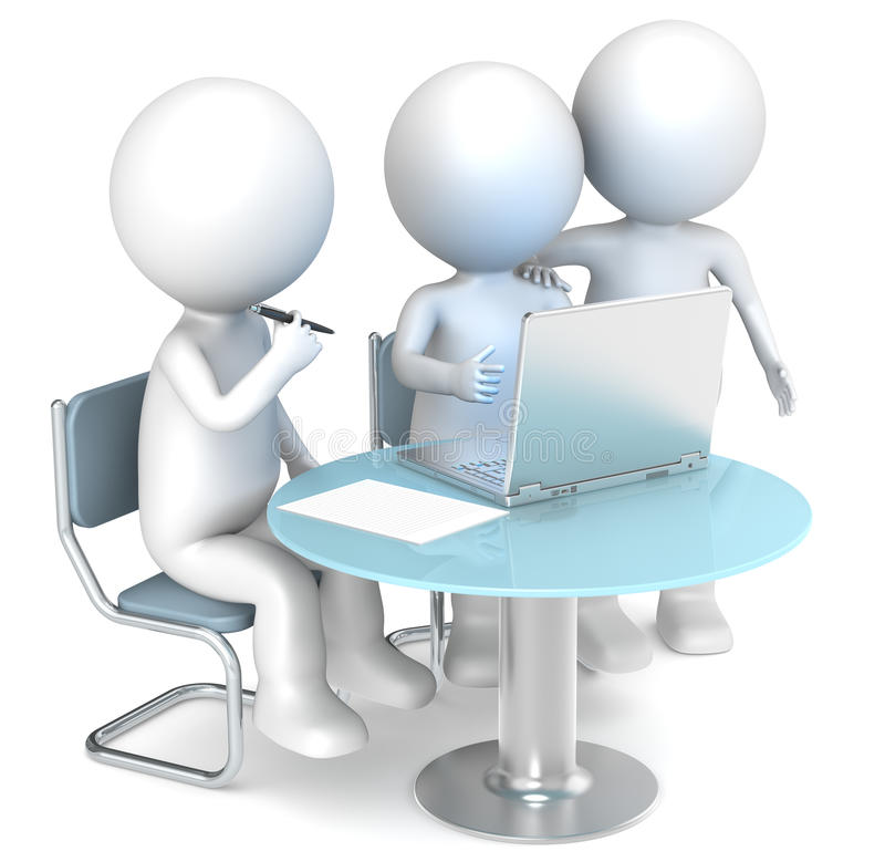 Het samenwerken. stock illustratie