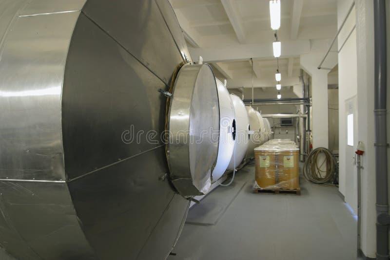 Het sap en de drank van de productie stock foto