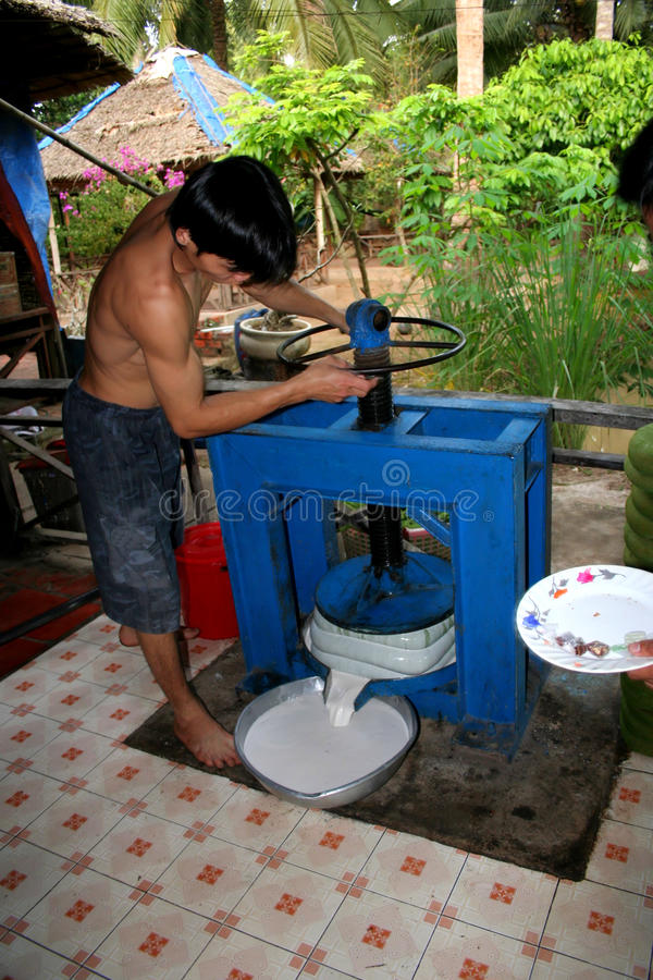 Het sap van de kokosnoot royalty-vrije stock afbeelding