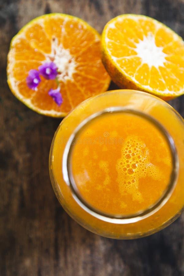 Het sap van de mandarijn stock foto
